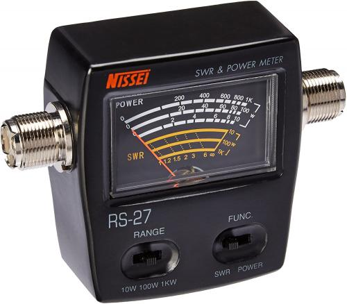 Nissei RS-27 CB / 10M In-Line Power and SWR Meter