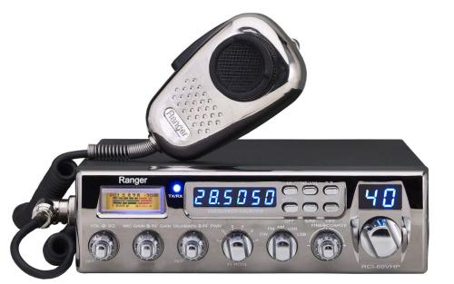 Ranger RCI-69VHP 10 Meter Radio w Single SideBand and Chrome Faceplate