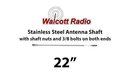 22 Inch Stainless Steel Antenna Shaft with Two Shaft Nuts