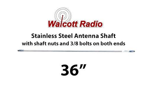 36 Inch Stainless Steel Antenna Shaft with Two Shaft Nuts
