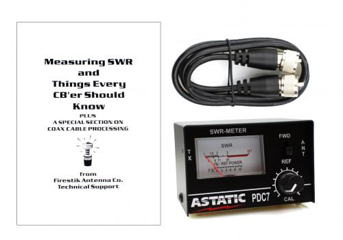 SWR Meter + Coax Jumper + SWR Booklet Bundle