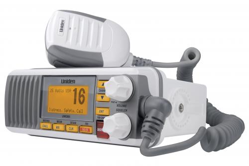 Uniden UM385 VHF Marine Radio with Weather Alert - White