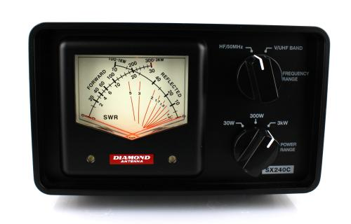 Diamond Antenna SX240C Cross Needle SWR Power Meter HF/UHF/VHF