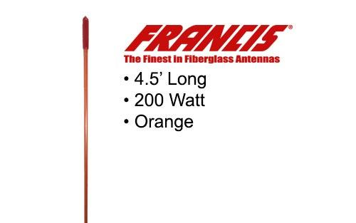 Francis Fiberglass CB Antennas 4.5 Foot CB25 Orange
