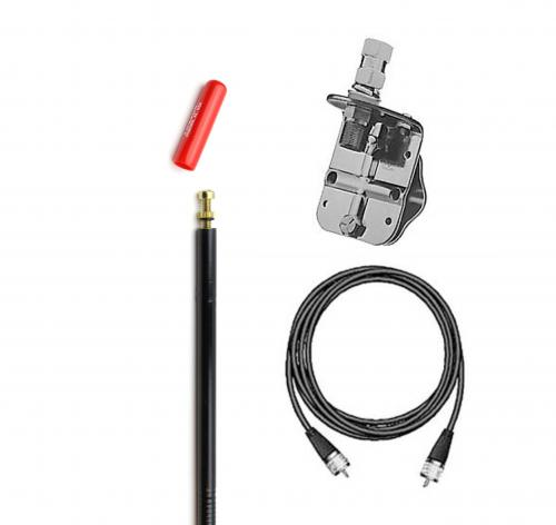 Firestik FS4SMKB 4 Single Antenna Kit - Black Antenna