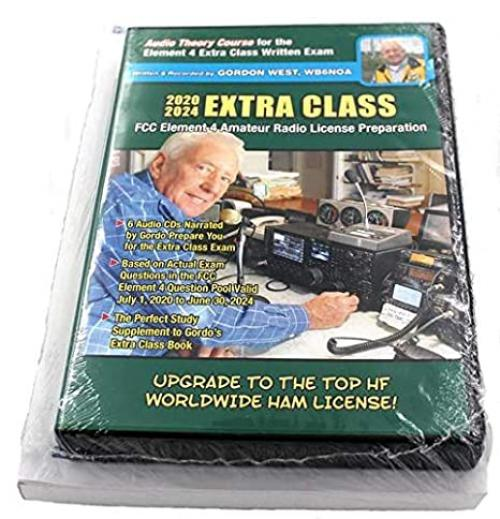 Gordon West Extra Class Amateur License Book + Audo CDs