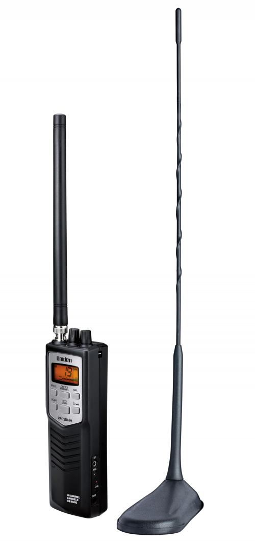 Uniden Pro501TK Handheld CB With Magnetic Antenna