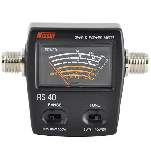 Nissei RS-40 VHF / UHF In-Line Power and SWR Meter