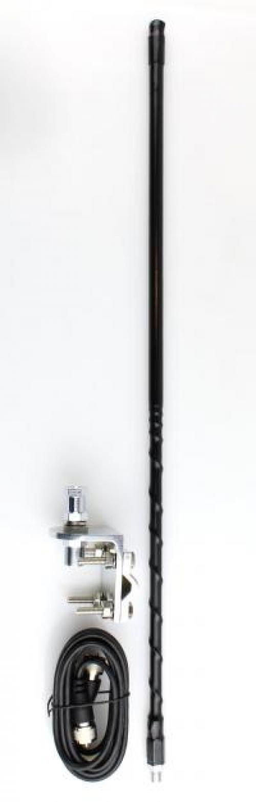 Three Foot Tall CB Antenna Kit - Black - With Coax and Mount