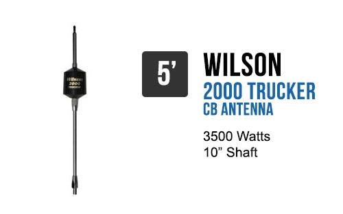 Wilson Trucker 2000 Antennas 10 Shaft - Black 305-495