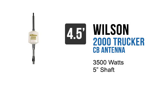 Wilson Trucker 2000 Antennas 5 Shaft - White 305-494