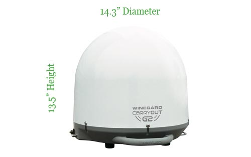 Winegard GM2000 Carryout G2 Portable Automatic Satellite TV Antenna for Dish, DirecTV, and Bell